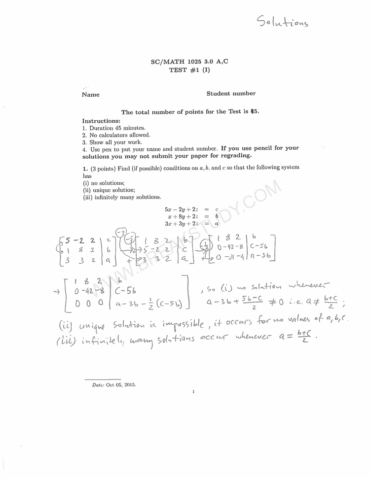 Midterm Solved Example Page 1