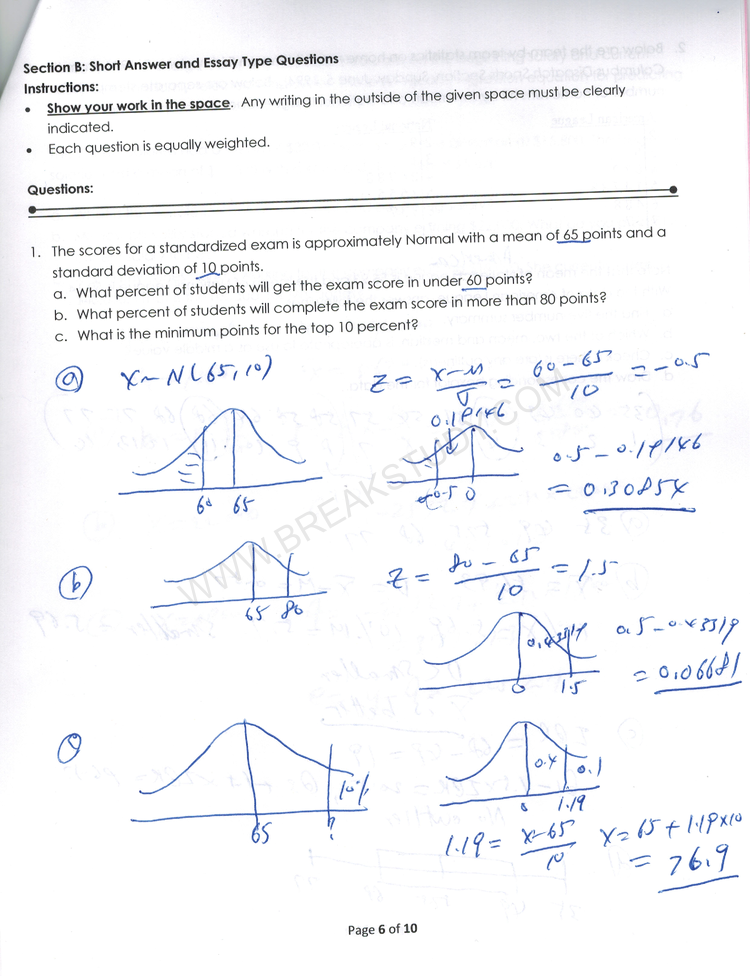 ECON 2500 Midterm 1 with solutions David k. Lee 2019 Page 1