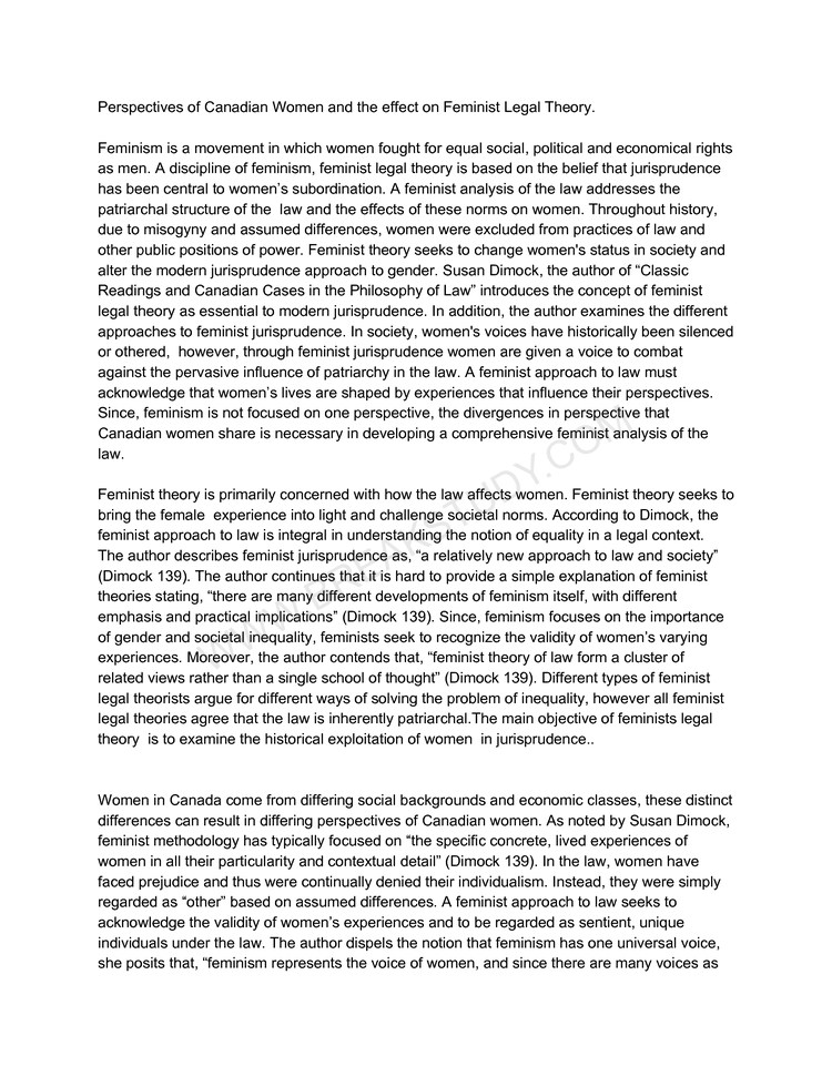 Philosophy of Law Essay 1 Page 1