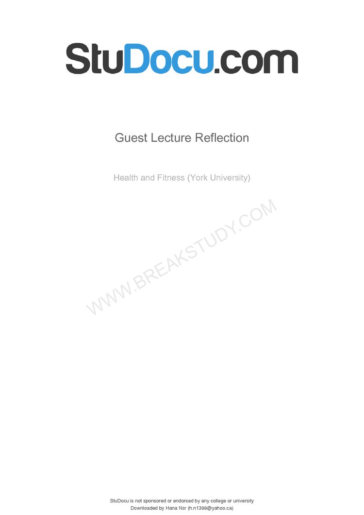 Guest reflection essay Page 1